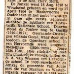 Ds. T. Jonker, predikant Hervormd Akkerwoude