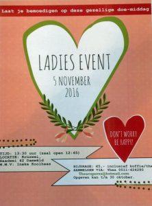 Ladies Event 'Don't worry, be happy'