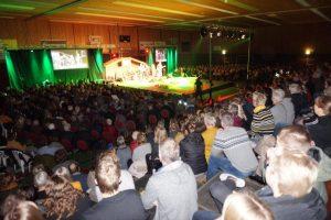 Ruim 1400 bezoekers bij Younited kerstjeugddienst