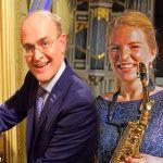 """Concert saxofoon en orgel in """"De Ontmoeting""""."""
